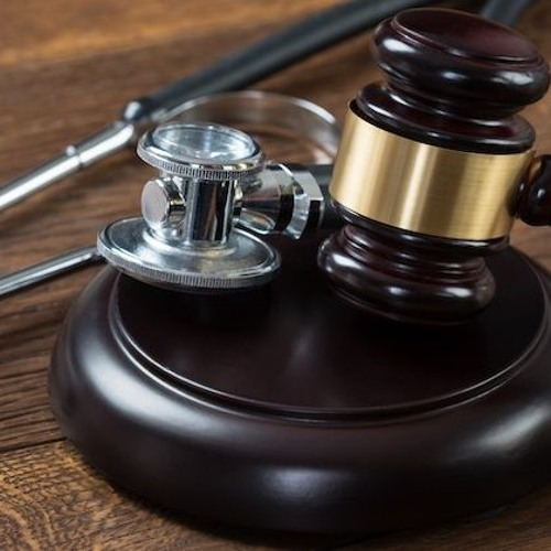Court Gavel and Stethescope