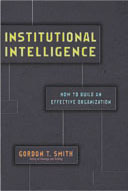 institutional intelligence book